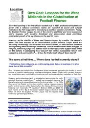 Own Goal - Localise West Midlands