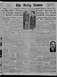 January 19 - The Daily Iowan Historic Newspapers