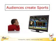 Audiences create Sports - TAM Media Research