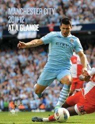 MANCHESTER CITY 2011-12 AT A GLANCE