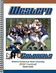 2012 football media guide.indd - Western Connecticut State University