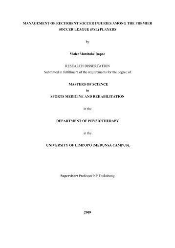 Dissertation undergraduate level