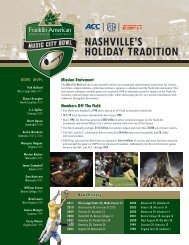 NASHVILLE'S HOLIDAY TRADITION - Music City Bowl
