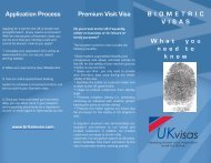 Application Process Premium Visit Visa B I O M E T R I C VISAS ...