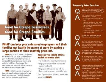 FHIAP employer brochure - State of Oregon