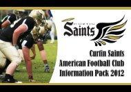 Saints Info Pack 2012 - Curtin Saints