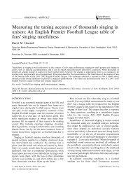 published paper - David M Howard