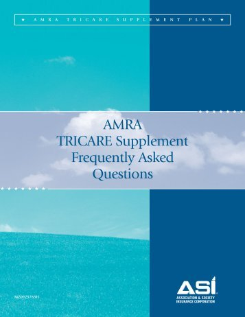 AMRA TRICARE Supplement Frequently Asked Questions