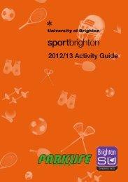 2012/13 Activity Guide - University of Brighton