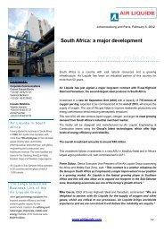 2012 02 06 South Africa: a major development - Air Liquide