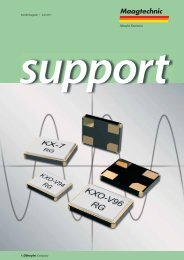 Support - Maag Technic AG
