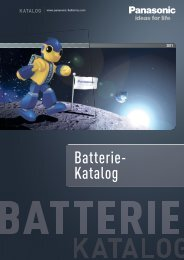 Batterie- Katalog - Panasonic Batteries