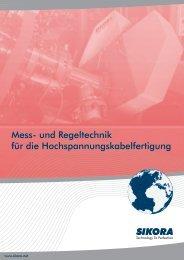 Katalog Hochspannungskabelfertigung - Sikora