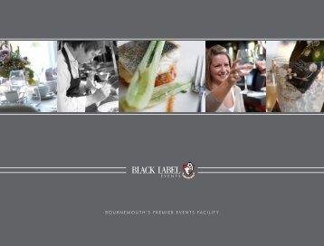 BOURNEMOUTHLS PREMIER EVENTS FACILITY - Black Label ...