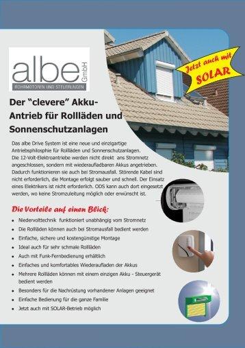 auch nachträglich! albe Drive System - albe GmbH