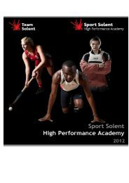 Sport Solent High Performance Academy Application Form