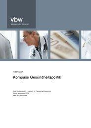 Kompass Gesundheitspolitik - Vereinigung der Bayerischen Wirtschaft