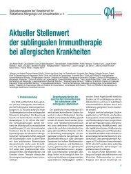 Aktueller Stellenwert der sublingualen Immuntherapie ... - APPA eV