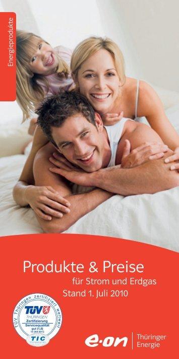 Produkte & Preise - E.ON Thüringer Energie AG