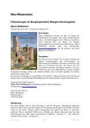 Felsenburgen im Burgenparadies Wasgau-Nordvogesen