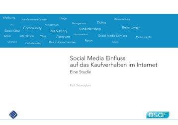 Social Media Einfluss auf das Kaufverhalten im Internet - DSaF