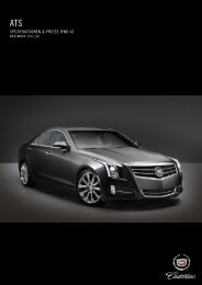 SPEZIFIKATIONEN & PREISE RWD AT - Cadillac