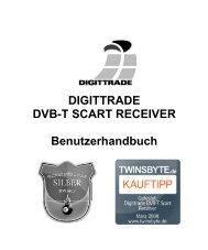 Benutzerhandbuch DIGITTRADE DVB-T SCART Receiver