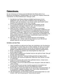 Platzordnung: - Hundeschule in Dettingen