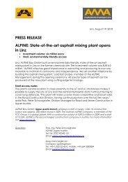 State-of-the-art asphalt mixing plant - ALPINE Bau Gmbh