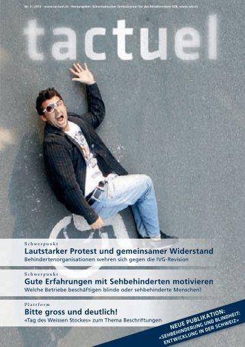 """""""tactuel"""" zum Download (pdf) - Schweizerischer Zentralverein für ..."""