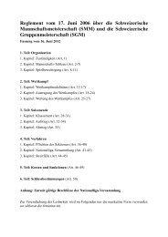 (SMM) und Schweizerische Gruppenmeisterschaft (SGM)