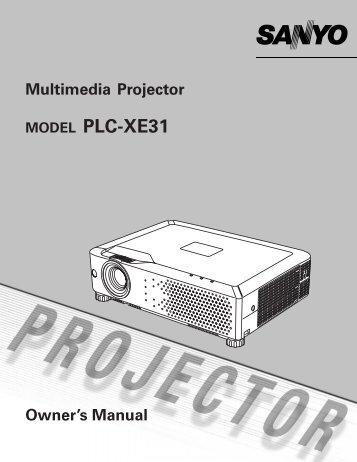 MODEL PLC-XE31 - sanyo