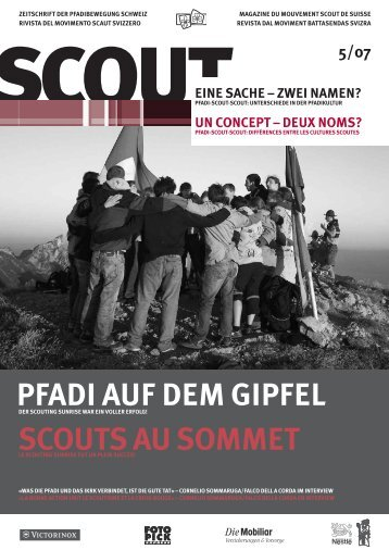 PFADI AUF DEM GIPFEL SCOUTS AU SOMMET - Scout.ch