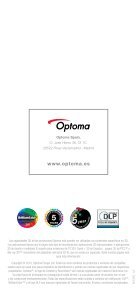 Gama Proyector Optoma 3D - Page 4