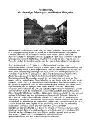Nessenreben, ein ehemaliger Erholungsort des ... - Familie Gebhard