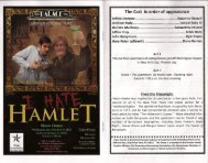 view excerpts from the program for - Austin Live Theatre