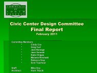 Civic Center Design Committee Final Report - South Fayette Township