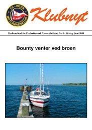 Bounty venter ved broen - Frederiksværk motorbådsklub