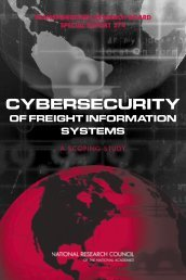 cybersecurity of freight information systems - Transportation ...