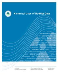 Historical Uses of RadNet Data - US Environmental Protection Agency