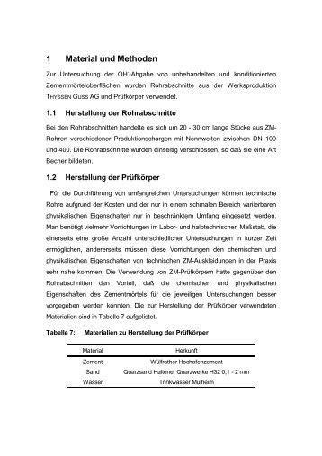 1 Material und Methoden - bei DuEPublico
