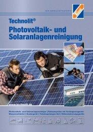 Photovoltaik- und Solaranlagenreinigung - TECHNOLIT