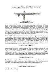 Bedienungsanleitung für IWATA Hi-Line HP-AH - Createx Handels ...