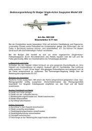Bedienungsanleitung - Createx Handels-GmbH