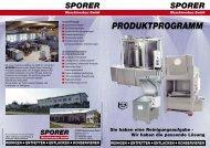 Prospekt Sporer Übersich#37B533 - Sporer Maschinenbau