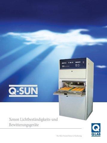 Xenon Lichtbeständigkeits-und Bewitterungsgeräte - Q-Lab