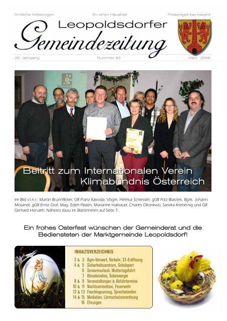 Brgermeister-Info - Leopoldsdorf