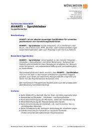 AVANTI – Sprühkleber - Mühlmeier GmbH