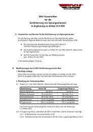 DSV-Vorschriften für die Zertifizierung von Sprungschanzen in ...