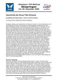 Geschichte der Gross Titlis Schanze - Engelberg